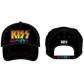 KISS:=BASEBALL CAP=-KISS BLACK BASEBALL CAP (GORRA)-IMPORTAC