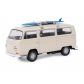 ARTICULOS REGALO:COCHE MINIATURA VW BUS T2+PLANCHA SURF