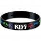 KISS:=GUMMY WRISTBAND=-LOGO & ICON 2 (PULSERA)