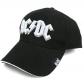 AC/DC = BASEBALL CAP= WHITE LOGO PUFF EMB...(GORRA) -IMPORTA