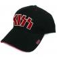 KISS: =BASEBALL CAP=RED ON WHITE LOGO (GORRA) -IMPORTACION-