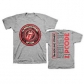 ROLLING STONES, THE:=T-SHIRT=ZC15 CIRCLE LOGO -L-GREY (CAMIS