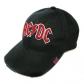 AC/DC =BASEBALL CAP= RED ON WHITE LOGO PUFF-IMPORT- (GORRA)