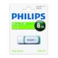 ELECTRONICA:PHILIPS USB 2.0 8GB SNOW GREEN (PEN-DRIVE)