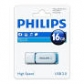 ELECTRONICA:PHILIPS USB 2.0 16GB SNOW BLUE (PEN-DRIVE)