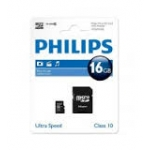 ELECTRONICA:PHILIPS MICRO SDHC CARD 16GB CLASS 10 ADAPT.