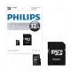 ELECTRONICA:PHILIPS MICRO SDHC CARD 32GB CLASS 10 ADAPT.