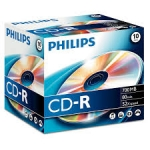 ELECTRONICA:PHILIPS CAJA 10 CD-R (700 MB / 80 MIN / 52X)