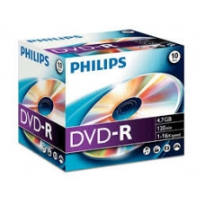 ELECTRONICA:PHILIPS CAJA 10 DVD-R (4.7 GB / 120 MIN / 16X)