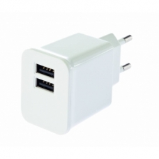 ELECTRONICA:GRIXX OPTIMUM CARGADOR 220 V DUAL USB BLANCO
