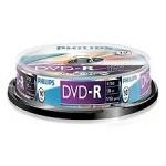 ELECTRONICA:PHILIPS BOBINA 10 DVD-R (1X-16X / 120MIN / 4.7GB