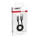 ELECTRONICA:EMTEC CABLE USB-A TO LIGHTNINIG