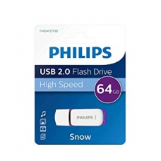 ELECTRONICA:PHILIPS USB 2.0 64GB SNOW PURPLE (PEN-DRIVE)