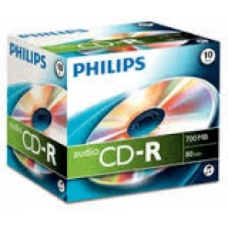 ELECTRONICA:PHILIPS CAJA 10 CD-R (750 MB / 80 MIN