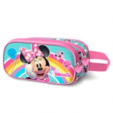 ARTICULOS REGALO:PORTATODO 3D RAINBOW MINNIE DISNEY DOBLE