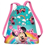 ARTICULOS REGALO:SACO RAINBOW MINNIE DISNEY 31CM